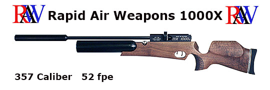 Rapid Air Weapons HM1000X .357