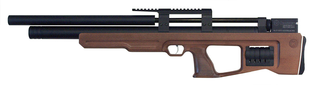 Cricket Bullpup  25 Wood Stock - Straight Shooters Precision Airguns