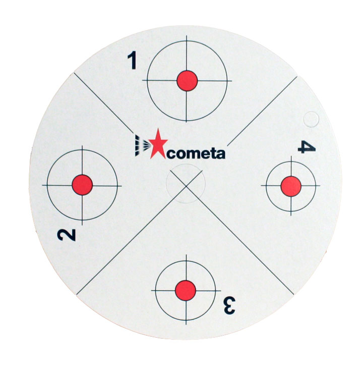Cometa Replacement Paper Targets-Red