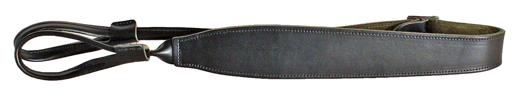 Shotgun Sling-Black Leather